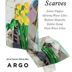 Argo introducing the Limited Edition Scarves Oil on Canvas I Silk on Skin! Welcome to 2015 Spring! by Andreea Buga