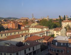 Morning view toward Centro Storico Morning View, Bologna, Italy, Mansions, House Styles, Home Decor, Italia, Decoration Home, Manor Houses