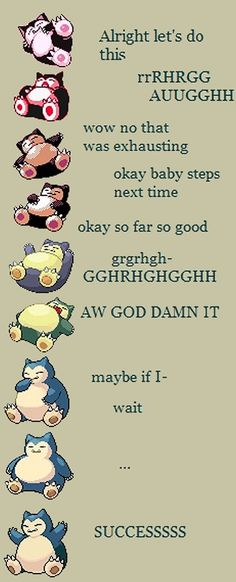 Evolution of Snorlax