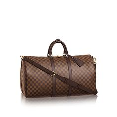 Keepall Bandoulière 55 Damier Ebene Canvas in WOMEN's TRAVEL collections by Louis Vuitton