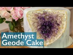 Hope you all enjoy this easy way to make a Geode cake! 3d Cakes, Fondant Cakes, Fondant Bow, Fondant Figures, Fondant Cake Tutorial, Movie Cakes, Easy Minecraft Cake, Buttercream Cake, Buttercream Flowers