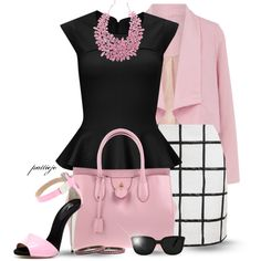 Think Pink, created by rockreborn on Polyvore