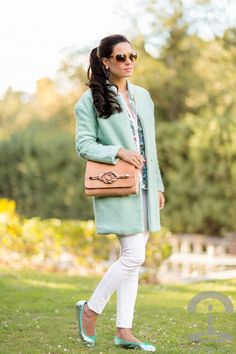 @roressclothes closet ideas #women fashion outfit #clothing style apparel Pastel Blue Outfit for Winter 2015