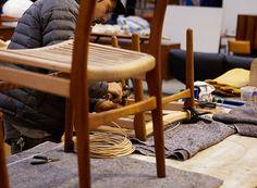 #papercord #moderntimesfitzroy #behindthescenes #fitzroyworkshop #europeanvintage #midcenturyrestoration #craftsmanship #hanswegner Hans Wegner, Modern Times, Wishbone Chair, Vintage Furniture, Restoration, Crafts, Inspiration, Home Decor, Art