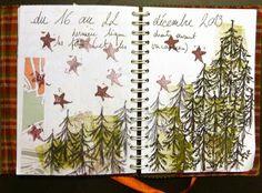 a zentangle forest - art journal -Lathelize