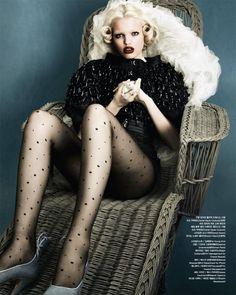 "fasheditorial:  ""Mystic Blue"": Daphne Groeneveld: Vogue Korea April 2012: Rafael Stahelin"