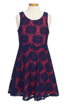 Nicole Miller 'Daisy' Sleeveless Lace Dress (Big Girls) available at #Nordstrom