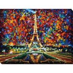Leonid Afremov \'Paris Of My Dreams\' Giclee Print Canvas Wall Art | Overstock.com Shopping - The Best Deals on Gallery Wrapped Canvas