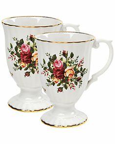 Royal Albert by Royal Doulton  'Old Country Roses' Set of 2 Mugs