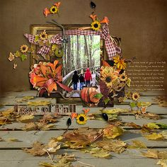 Love of Fall - Scrapbook.com - #scrapbooking #layouts #digital