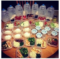 Meal prep! I need to start doing things like this! Im single right now and with no children.Its really expensive and hard finding time to buy,prepare,cook and eat healthy three time a day,everyday.Plus snacks.