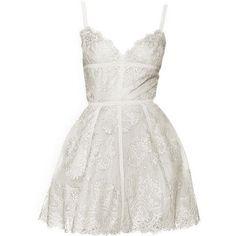 Elie Saab Dress Cose da indossare ❤ liked on Polyvore featuring dresses, short dresses, vestidos, mini dress, elie saab, white dress e elie saab dresses