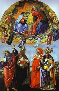 The Coronation of the Virgin (Altarpiece of St. Mark) - Sandro Botticelli