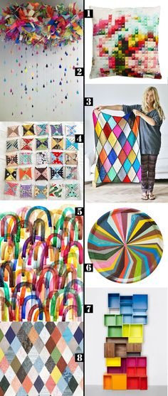 colour pinning : geometric rainbows // curated by Emma Lamb