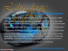 °Labradorite ~ A Stone of transformation Crystal Magic, Crystal Healing Stones, Crystal Grid, Stones And Crystals, Minerals And Gemstones, Crystals Minerals, Crystal Meanings, Mineral Stone, Chakra Healing