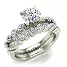 Perfect engagement & wedding band ring