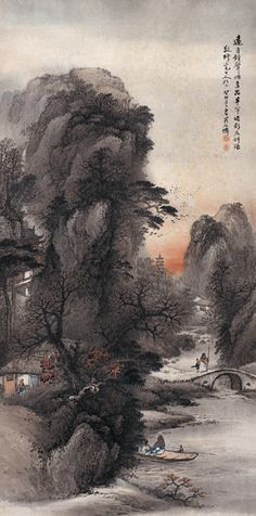 Chinese landscape painting by modern artist