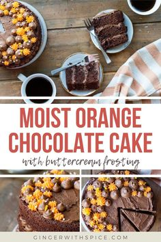 Dark chocolate and orange layer cake is a perfect flavor combination. Add delicious buttercream and it makes for a stunning chocolate cake! I'm also including ways on how to pipe this frosting decoration. And guess what? This orange chocolate cake is actually really easy to make too, so there's no excuse not to try it. The perfect gateway to make layer cakes. #orangechocolate #chocolatecake #layercake #cakedecoration #recipe Carrot Cake Cupcakes, Fun Cupcakes, Cupcake Cakes, Orange Buttercream, Buttercream Frosting, Gluten Free Chocolate Cake, Chocolate Desserts, How To Make Chocolate, Melting Chocolate