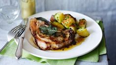 pork chop maman blanc:sauté potatoes