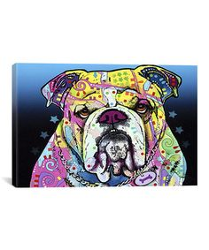 Take a look at this The Bulldog Canvas Print by iCanvasART on #zulily today!   For UGA or MSU fans?