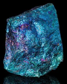 Bornite - Peacock Ore - This crystal brings forth freshness and newness to life. It is a stone of happiness, providing a message that life is a joyful experience. It enourages you to seek new heights and fully enjoy the experience. An excellent healing st Minerals And Gemstones, Rocks And Minerals, Peacock Ore, Rock Collection, Beautiful Rocks, Mineral Stone, Rocks And Gems, Stones And Crystals, Gem Stones