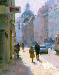 Rue Saint-Antoine. 8 x 10 in, oil on panel. Jennifer McChristian. $1,000