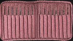Cool free pattern for a Crochet Hook Case - thinking of amending to a smaller design to hold less hooks for on-the-go crocheting!