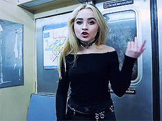 Sabrina Carpenter in her new Music video Thumbs ❤
