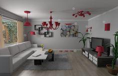 In Wohn- & Esszimmer bestes Licht mit Lampenwelt.de |rotes Lampdesign | #innenleuchten #designlampen   Siehe auch: https://www.brabbu.com/en/inspiration-and-ideas/