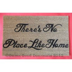 There's no place like home- Wizard of OZ doormat