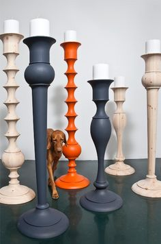 great candlesticks from wood in design