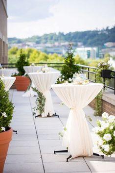 Decoration Cocktail, Cocktail Table Decor, Cocktail Tables, Cocktail Wedding Reception, Wedding Reception Design, Wedding Reception Flowers, Wedding Ceremony, Wedding Venues, Outdoor Wedding Decorations