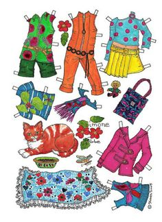 Karen`s Paper Dolls: Simone 1-6 Paper Doll in Colours.Simone 1-6…