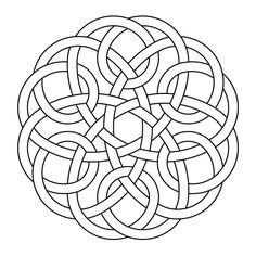 Celtic knot-work hexa one piece by Peter Mulkers