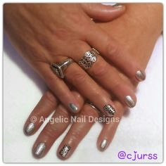 Natural nails with Artistic Colour Gloss in and filigree feature Nail inspired by the beautiful filigree ring she is wearing. Painted Nail Art, Hand Painted, Artistic Colour Gloss, Filigree Ring, Natural Nails, Swag Nails, Nail Designs, Nail Polish, Rings