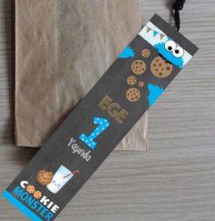 Kurabiye Canavarı kitapayracı   DesignByCeline on WordPress.com  bilgi için bedikyan@gmail.com designbyceline kurabiye canavarı temalı partiler