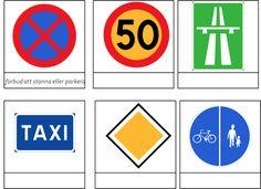 Ett material om trafikmärken. Jag har tagit några av de vanligaste (tror jag). Materialet innehåller 24 trafikmärken i kort med tre delar, 5 sorteringskort, 5 kontrollkort och 5 faktakort.På Unga…