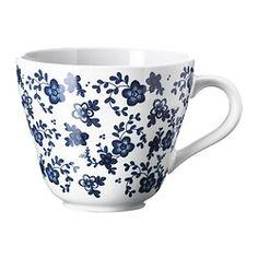 JÄMNT Mug, white, dark blue - IKEA