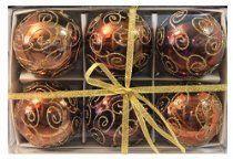 "6pk 80mm Shatterproof ""Chocolate Swirl"" Christmas Ball Ornament Set  http://astore.amazon.com/wonderfulrota0009-20/detail/B00MBV0ZNI"