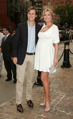 NEW YORK, NY - JULY 13:  Ivanka Trump (R) and Jared Kushner attend the Cinema Society with Ivanka Trump Jewelry
