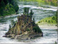Island on the Kootenai River in Libby, MT - Yvonne Moe Resch Photographer