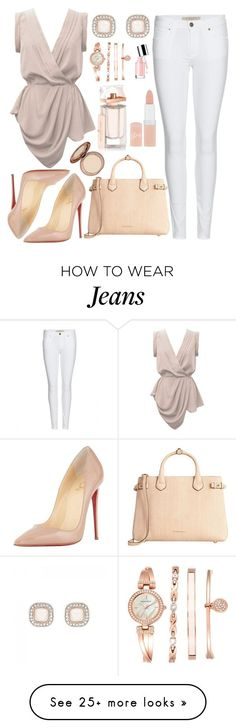 """Untitled #3402"" by natalyasidunova on Polyvore featuring YOANA BARASCHI, Burberry, Forever New, Anne Klein, Christian Louboutin, Balenciaga and Rimmel"