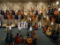 Our acoustic guitar showroom now has more kinds of guitars than ever with the combination of Fender, Ibanez, and Yamaha