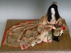 Vintage Oiran Geisha Japanese Cloth Doll Uchikake Silk Kimono Tatami Mat Ukiyoe   eBay