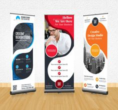Roll Up Banner Bundle - Graphic Vital Letterhead Template, Brochure Template, Flyer Template, Brochure Design, Standee Design, Banner Design, Roll Up Design, Cool Business Cards, Typography Poster