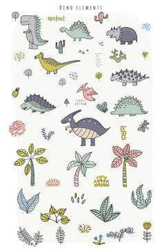 by kuchuk_design on Iphone 7 Wallpapers, Cute Wallpaper Backgrounds, Cute Wallpapers, Character Illustration, Graphic Illustration, Dinosaur Illustration, Floral Illustrations, Illustrations Posters, Dinosaur Background