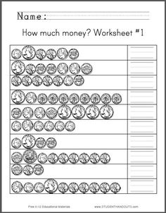 Pre-k Rhyming Worksheets Excel Th Grade Worksheets  Fourth Grade Math Worksheets  Homeschool  Math Worksheets For Grade 4 With Answers Word with Free Homonym Worksheets Excel How Much Money Worksheet  Students Are Asked To Count Assortments Of  Quarters Nickels Dimes And Pennies In American Currency Grade 5 Math Probability Worksheets