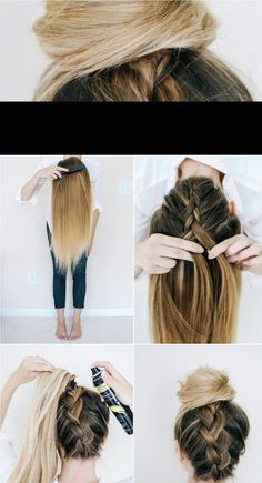 18 No Heat Hairstyles Everyday heat styling can be damaging for your hair. That's why we've gathered some of the best and elegant no heat hairstyles for you. These Hairstyles take just a few minutes and the effect is as if you've really spent much time. No Heat Hairstyles, Pretty Hairstyles, Hairstyles 2018, School Hairstyles, Simple Hairstyles, Fashion Hairstyles, Heatless Hairstyles, Latest Hairstyles, Natural Hairstyles