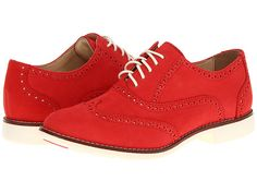 Cole Haan Gramercy Oxford Cherry Tomato Nubuck/Ivory - 6pm.com