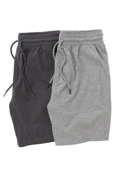 Buy Check Cosy Cuffed Long Bottoms Two Pack from the Next UK online shop Sport Shorts, Grey Shorts, Casual Shorts, Nike Outfits, Sport Outfits, Sweats Outfit, Sport Casual, Menswear, Mens Fashion